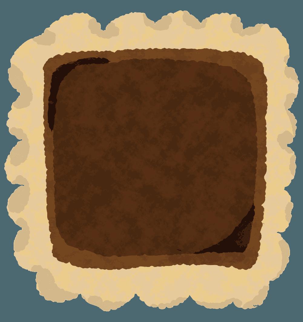 四角いチョコクッキーのイラスト