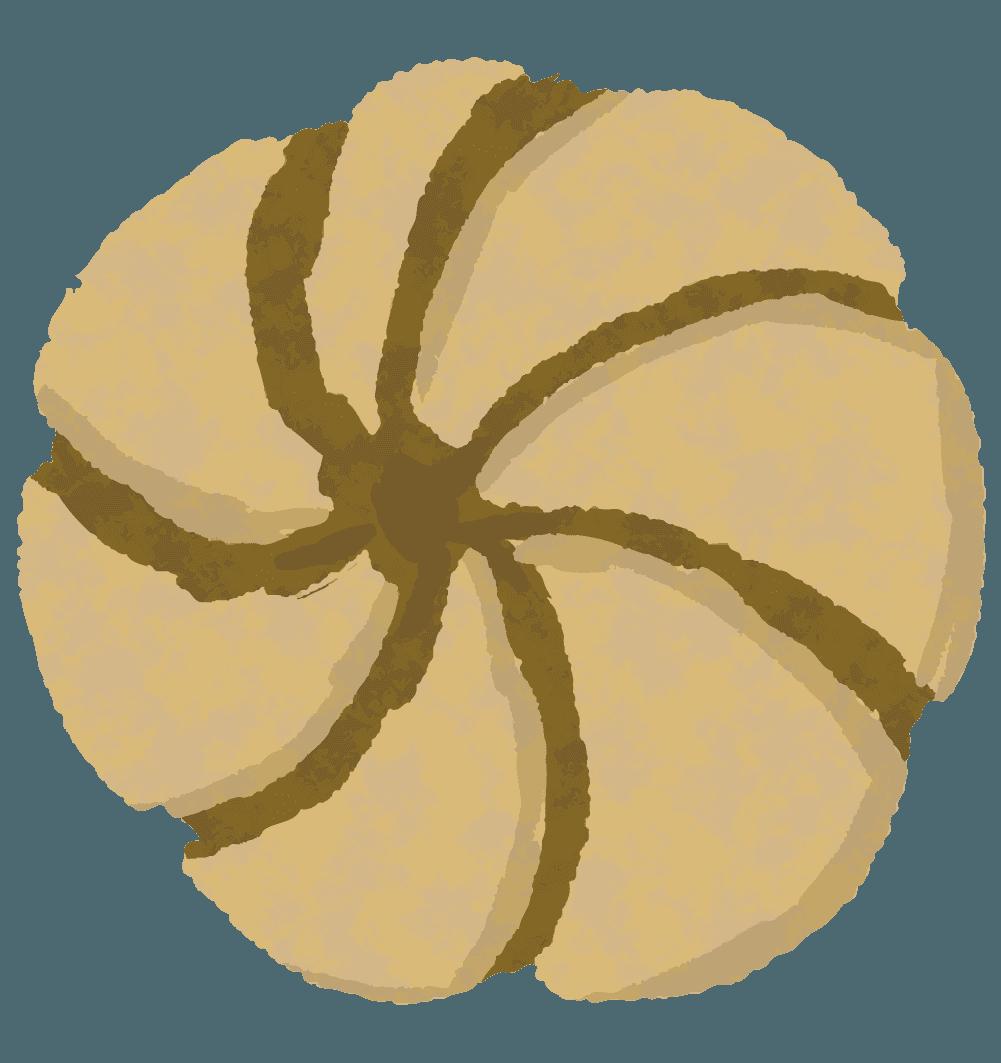 可愛いバタークッキーのイラスト