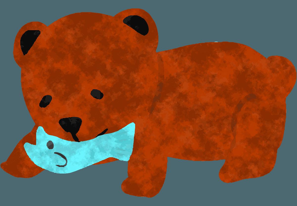 親子の可愛い子熊イラスト