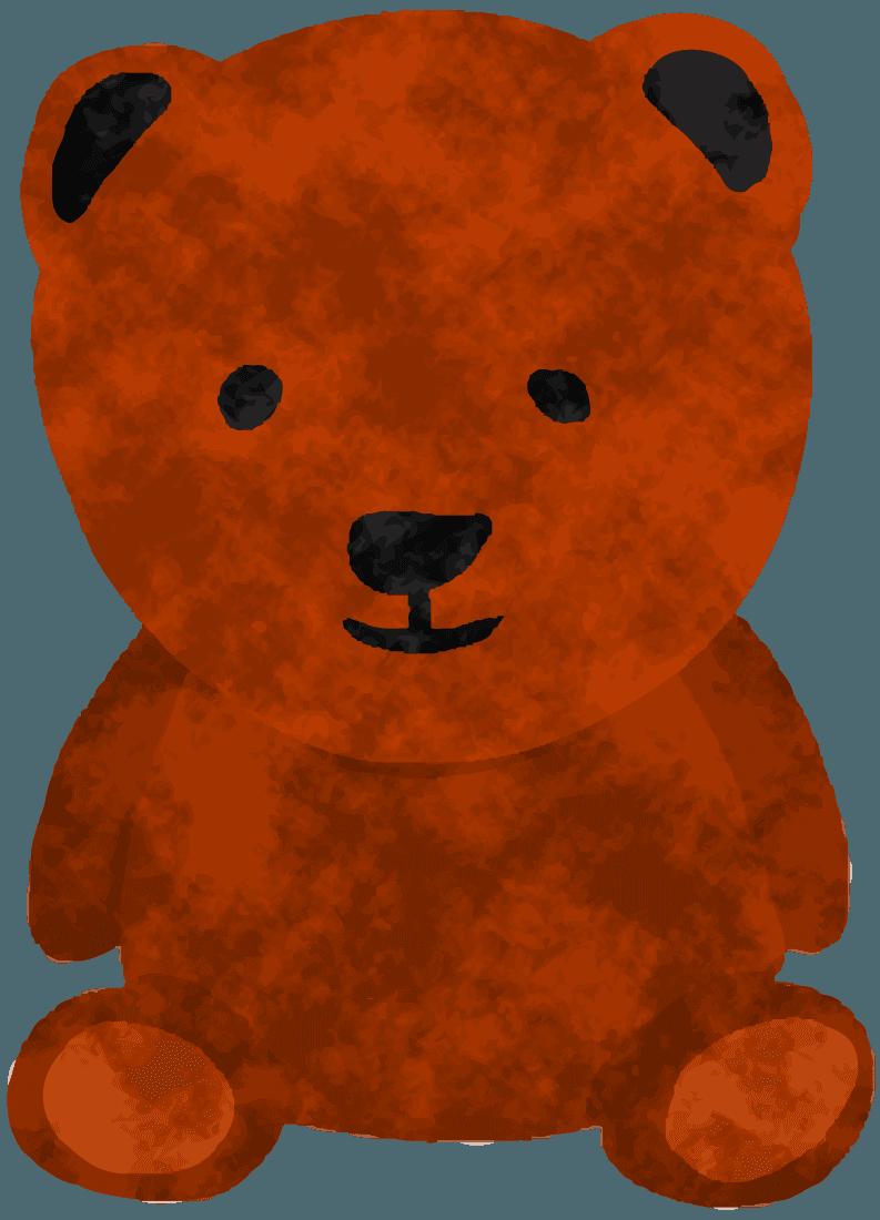 人形のくまイラスト