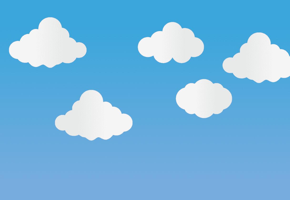 雲イラストを配置
