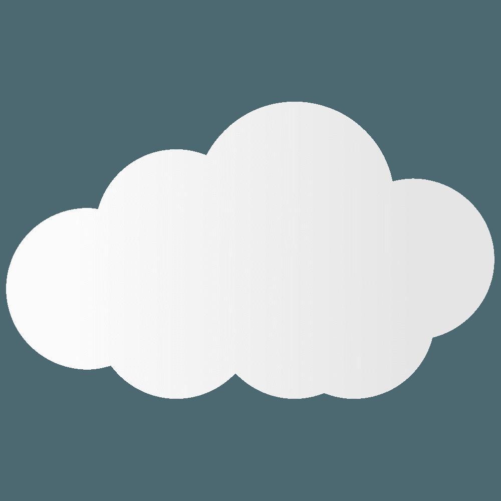 大きい雲イラスト