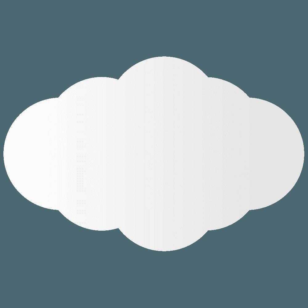 半分切れた雲イラスト