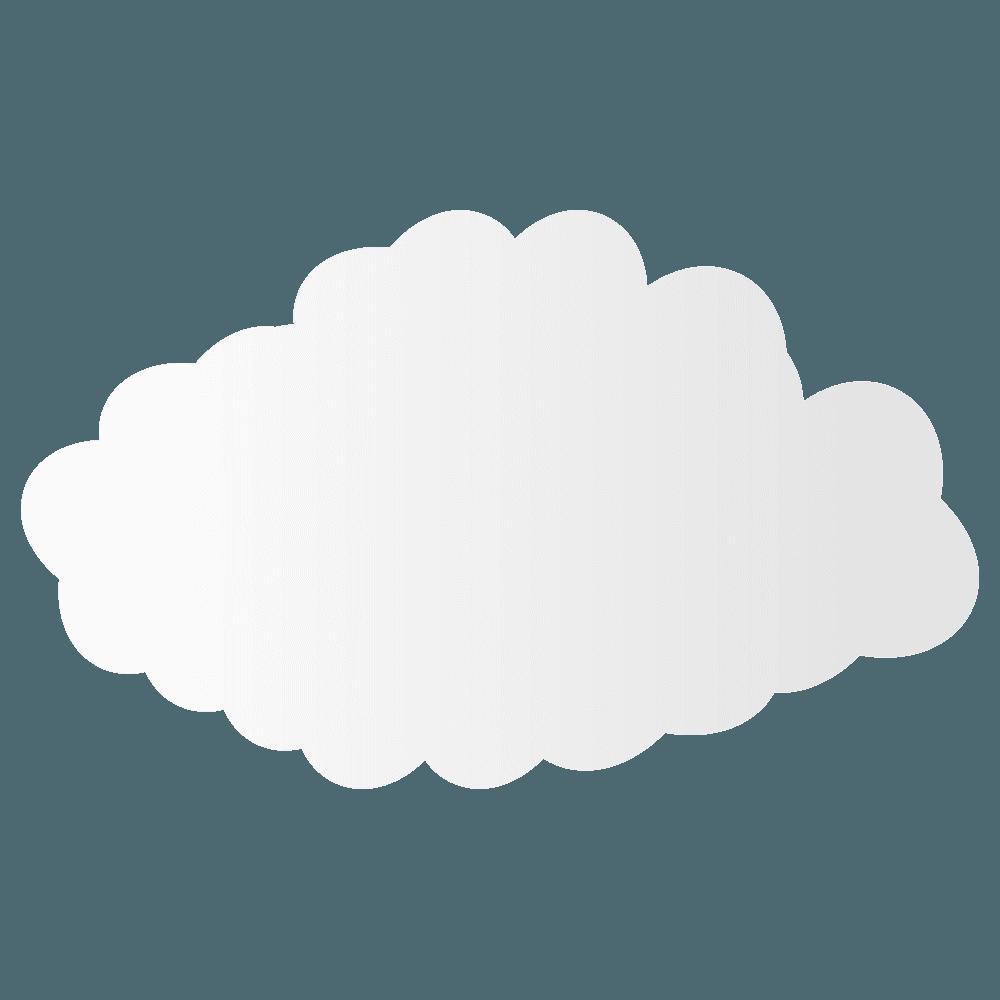 背の高い入道雲イラスト