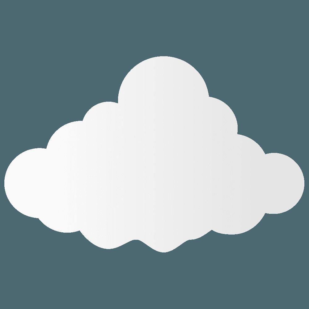 もこもこベクター雲イラスト