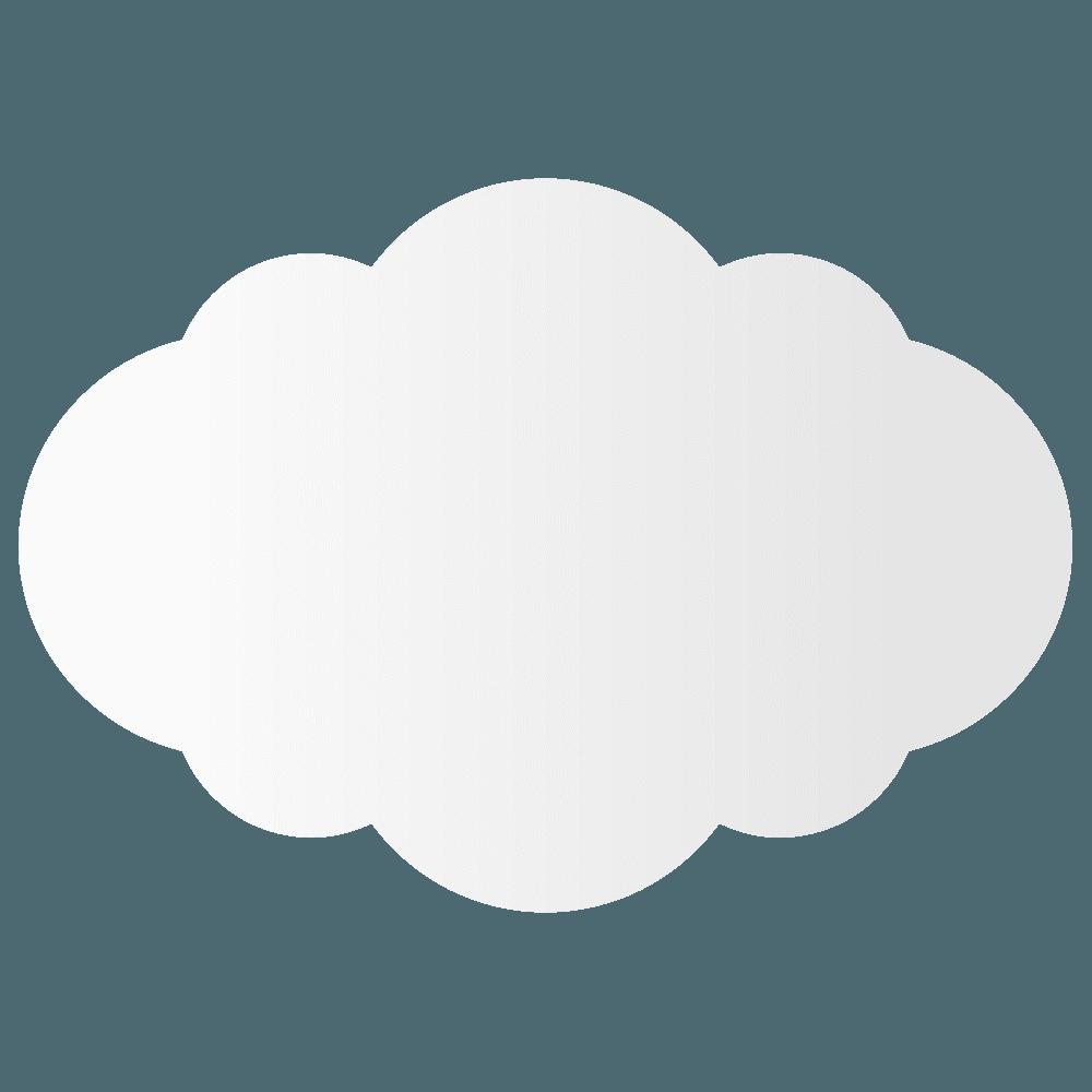 厚みのある雲イラスト