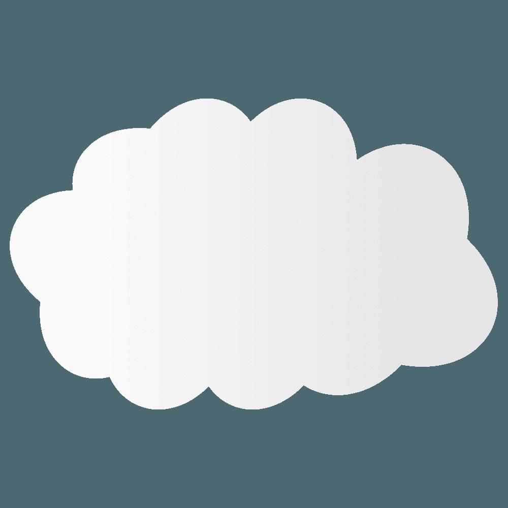 シンプルな雲イラスト