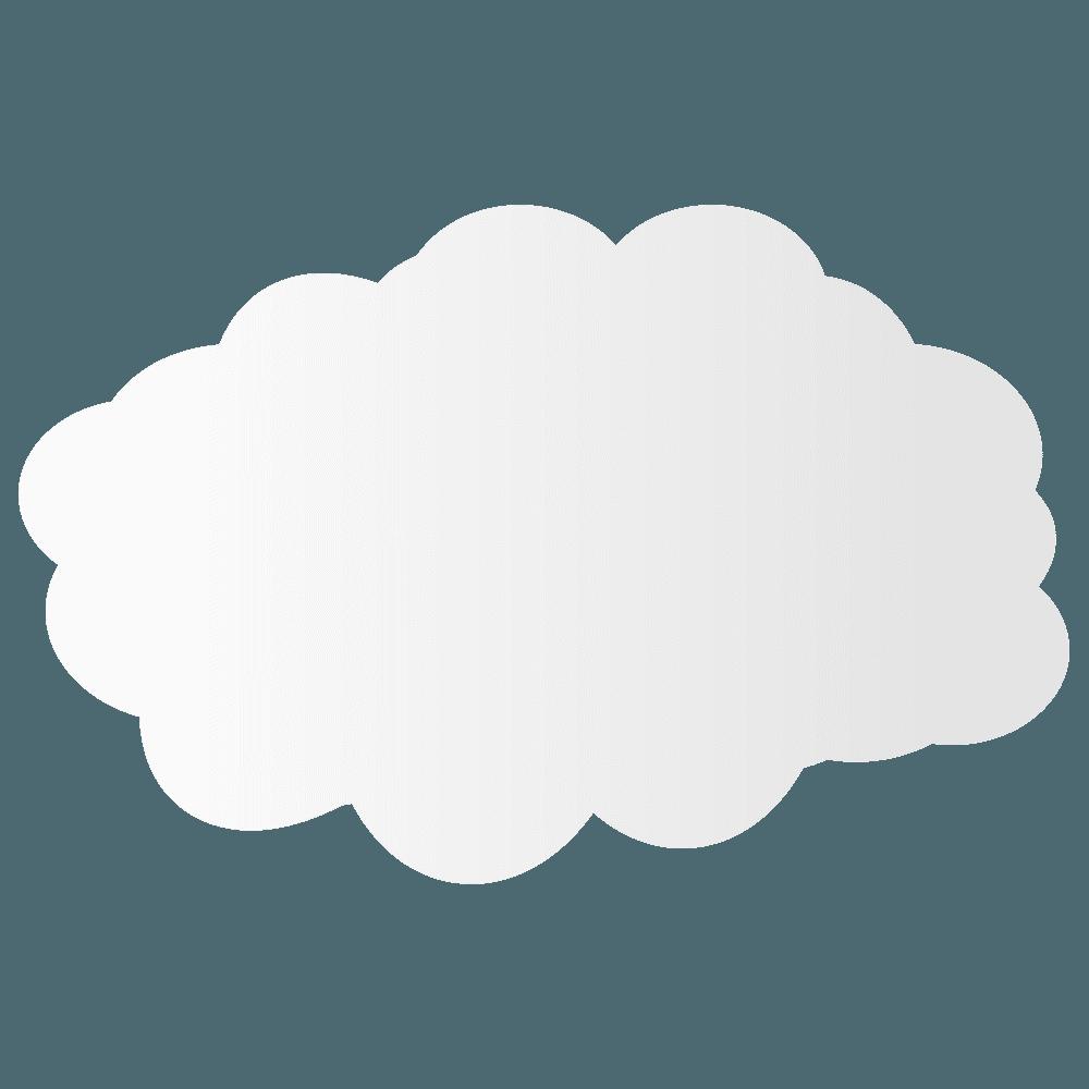 ノーマル雲イラスト