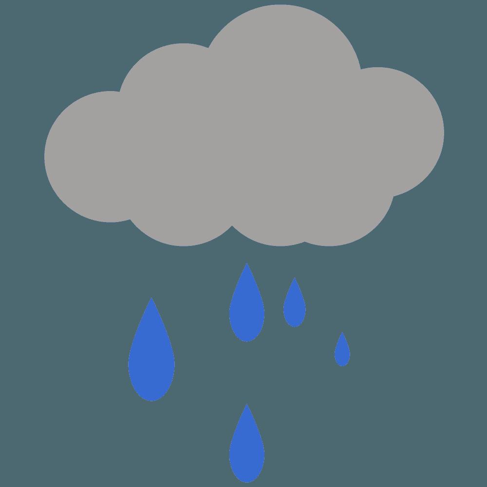雨雲と雨の水滴