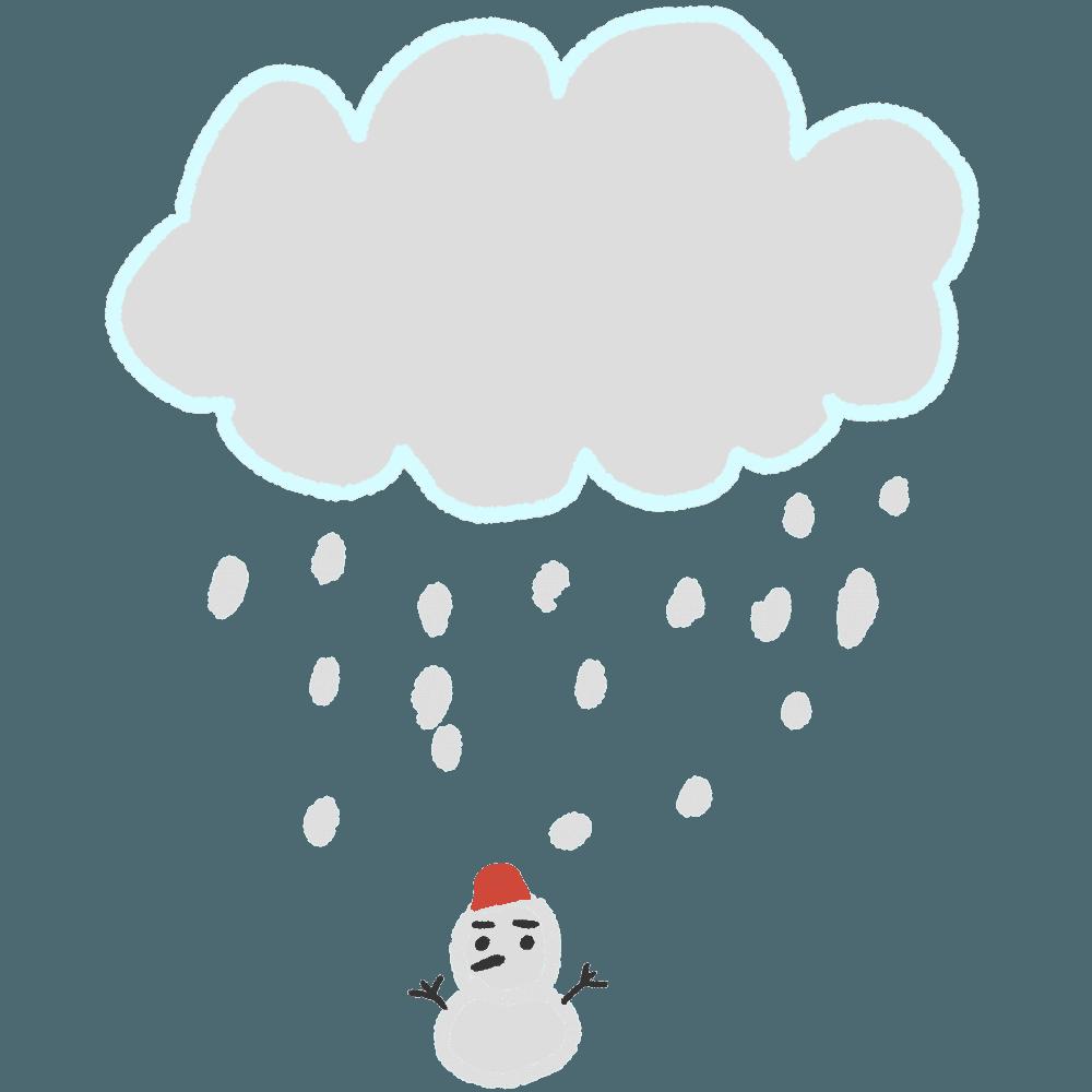 雪雲イラスト