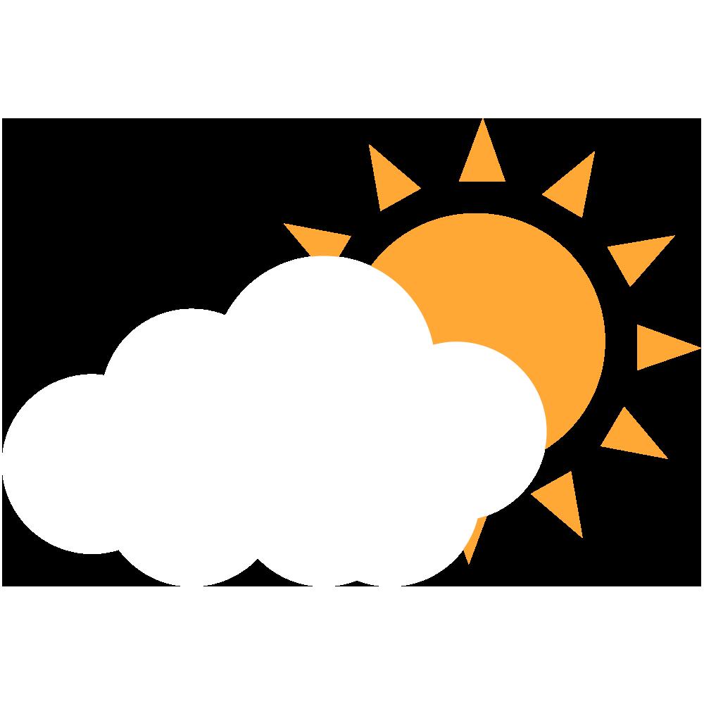 太陽と白い雲