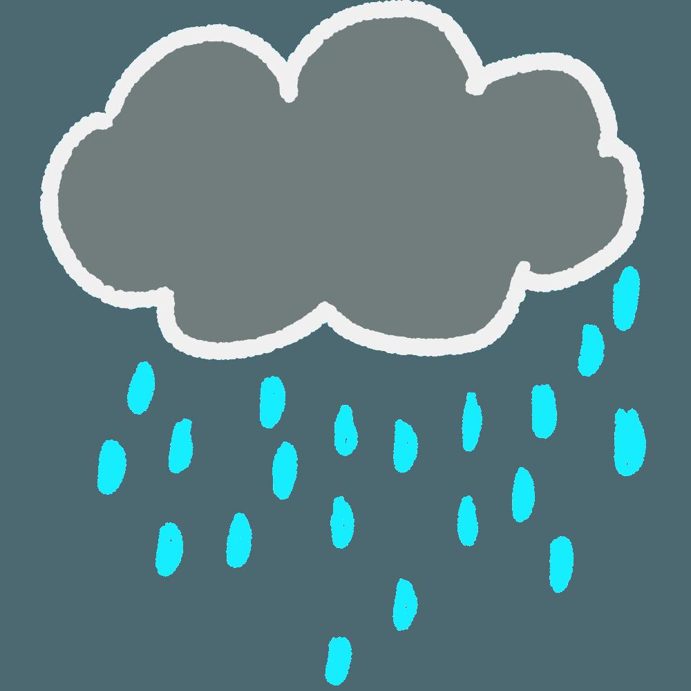 雨雲イラスト