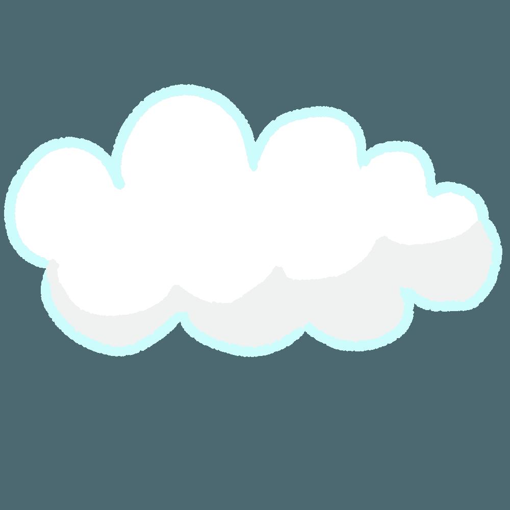 シンプルな手描き雲イラスト