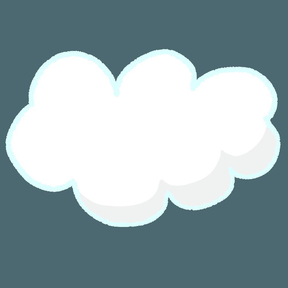 雲のイラスト素材!天気のアイコンに自然のデザインに☆ - チコデザ