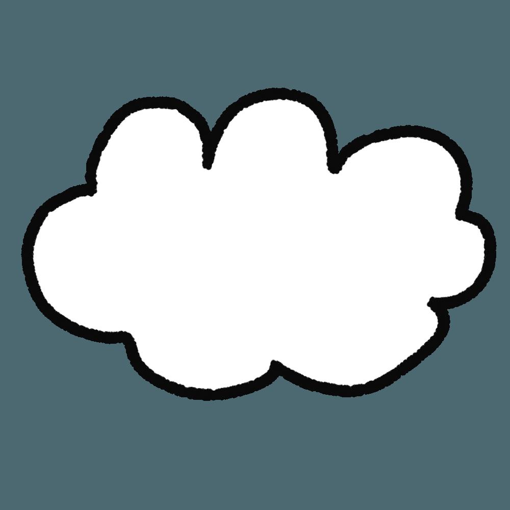 手描きの可愛い雲イラスト