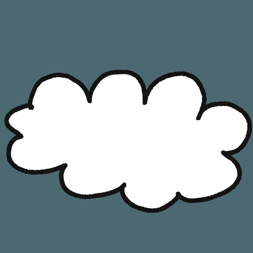 もこもこ雲イラスト
