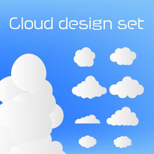 雲のイラストセット