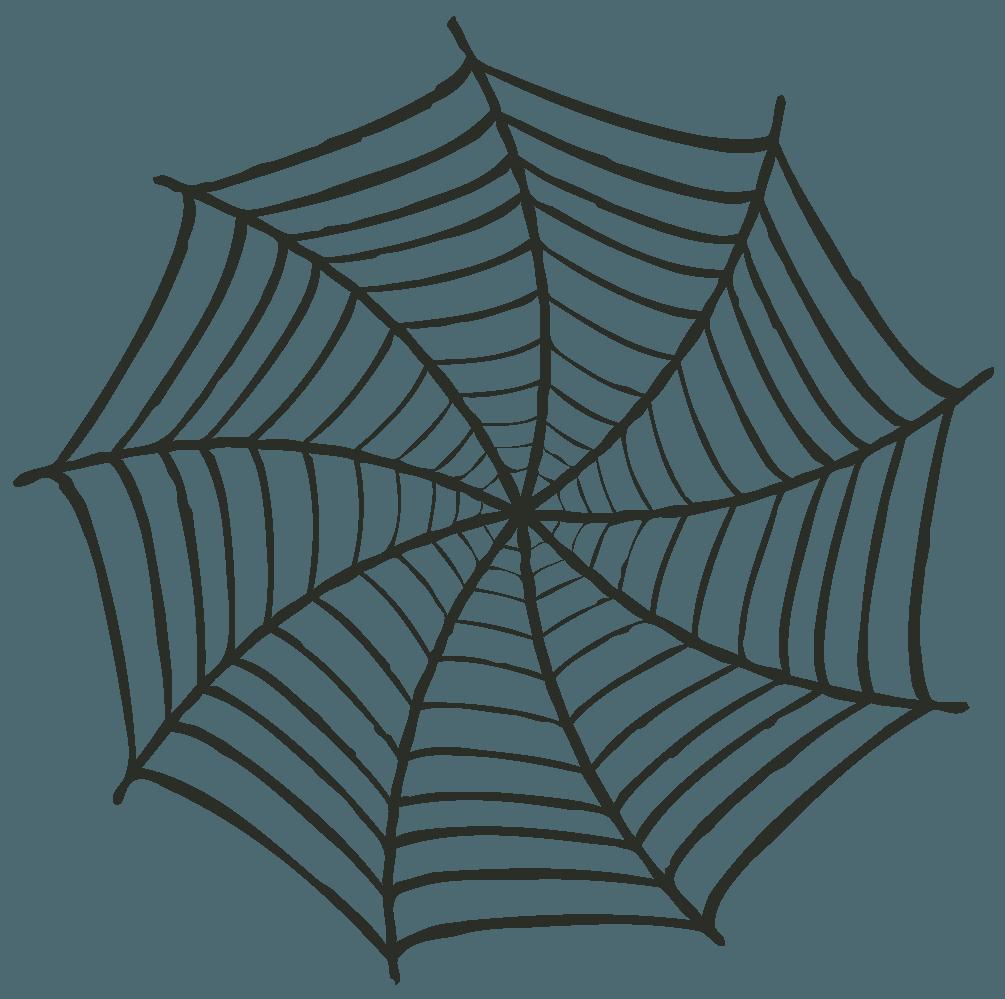 旋回する蜘蛛の巣イラスト