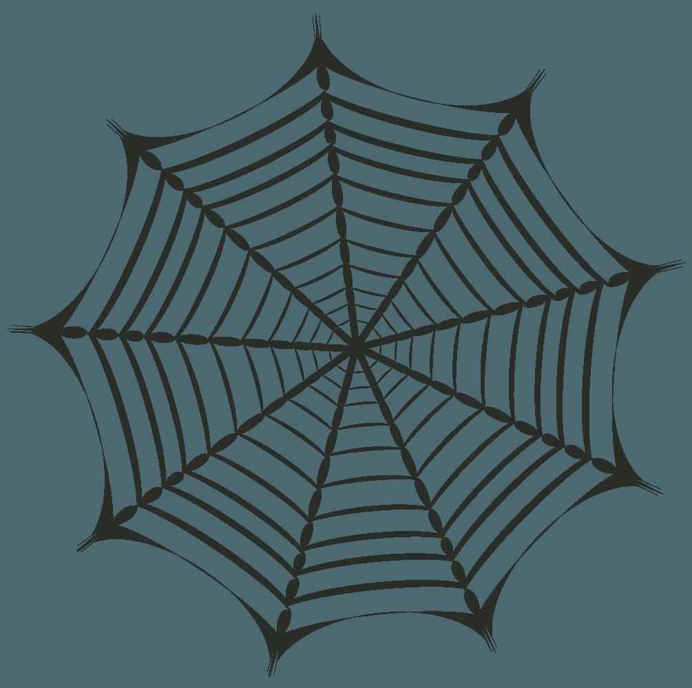 尖った蜘蛛の巣イラスト