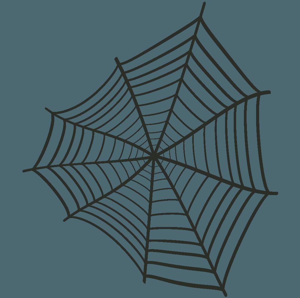 変形した蜘蛛の巣イラスト