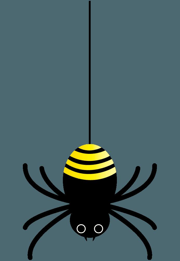 可愛い蜘蛛のキャラクターイラスト