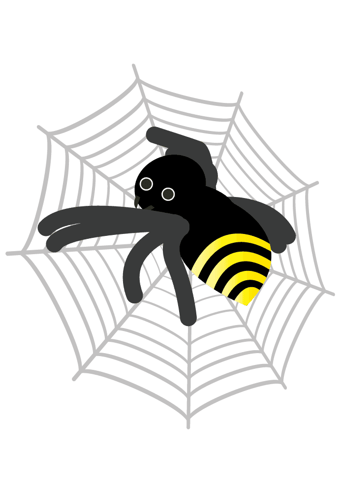 こっちを見る可愛い蜘蛛イラスト