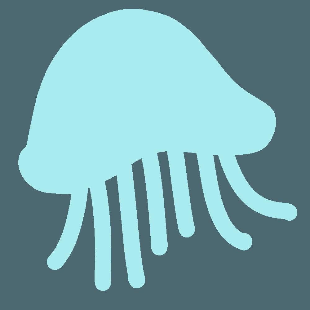 クラゲのマークイラスト