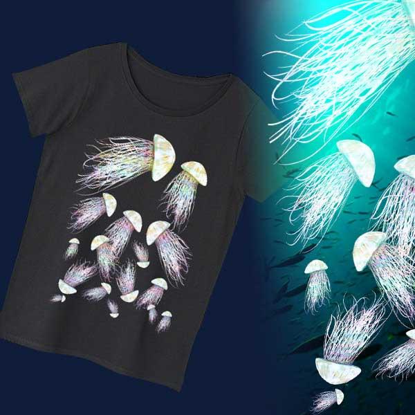 クラゲTシャツ - アートな海の生物のデザイングッズ