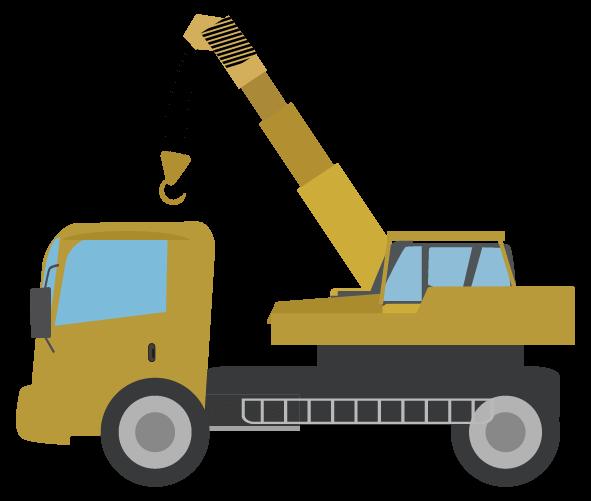 クレーン車トラックのイラスト