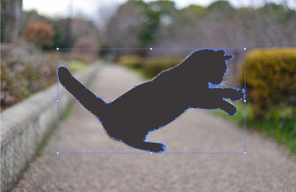 ロックを解除し切り抜きたい写真と形状を選択
