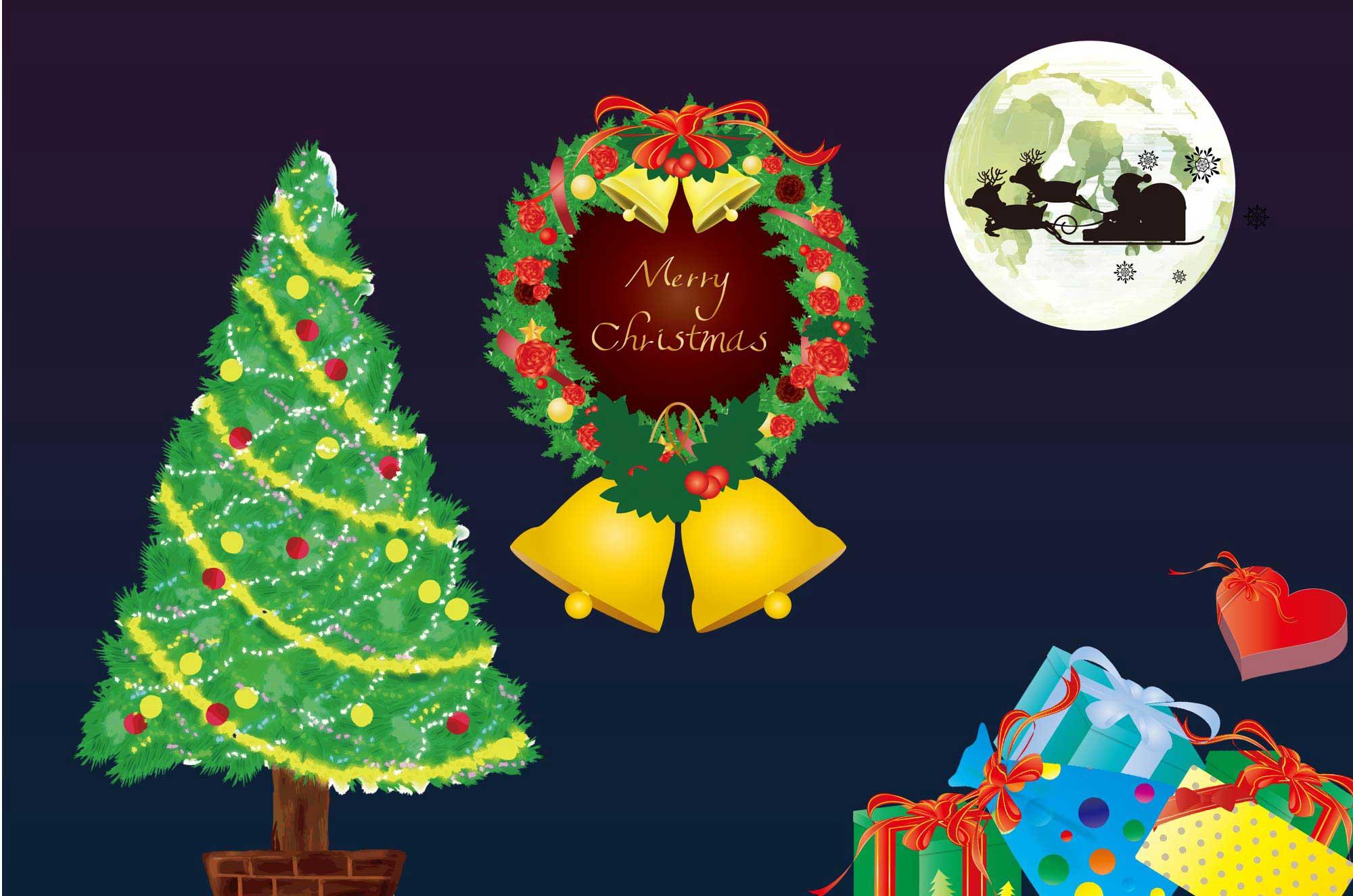 可愛いクリスマスのイラスト - 無料のイベント素材