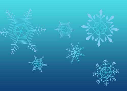 冬の自然が作るアートな雪の結晶イラスト