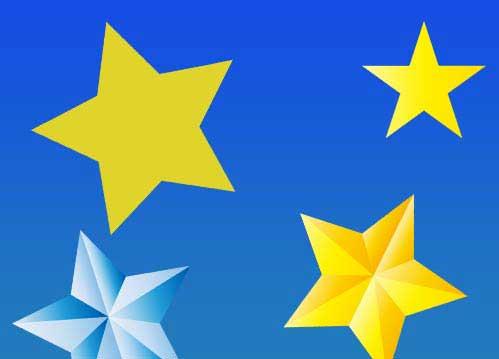 キラキラ光る星のイラスト