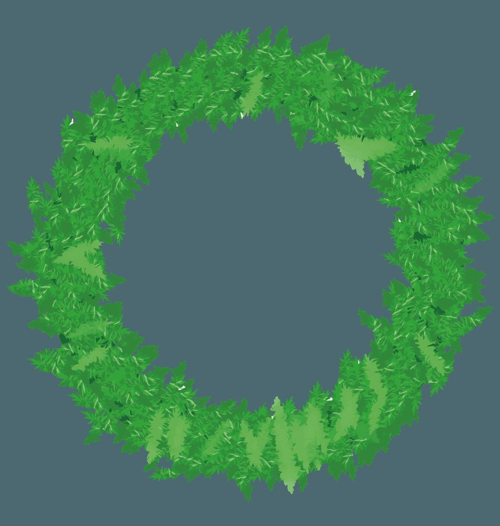 飾りのないクリスマスリースのイラスト