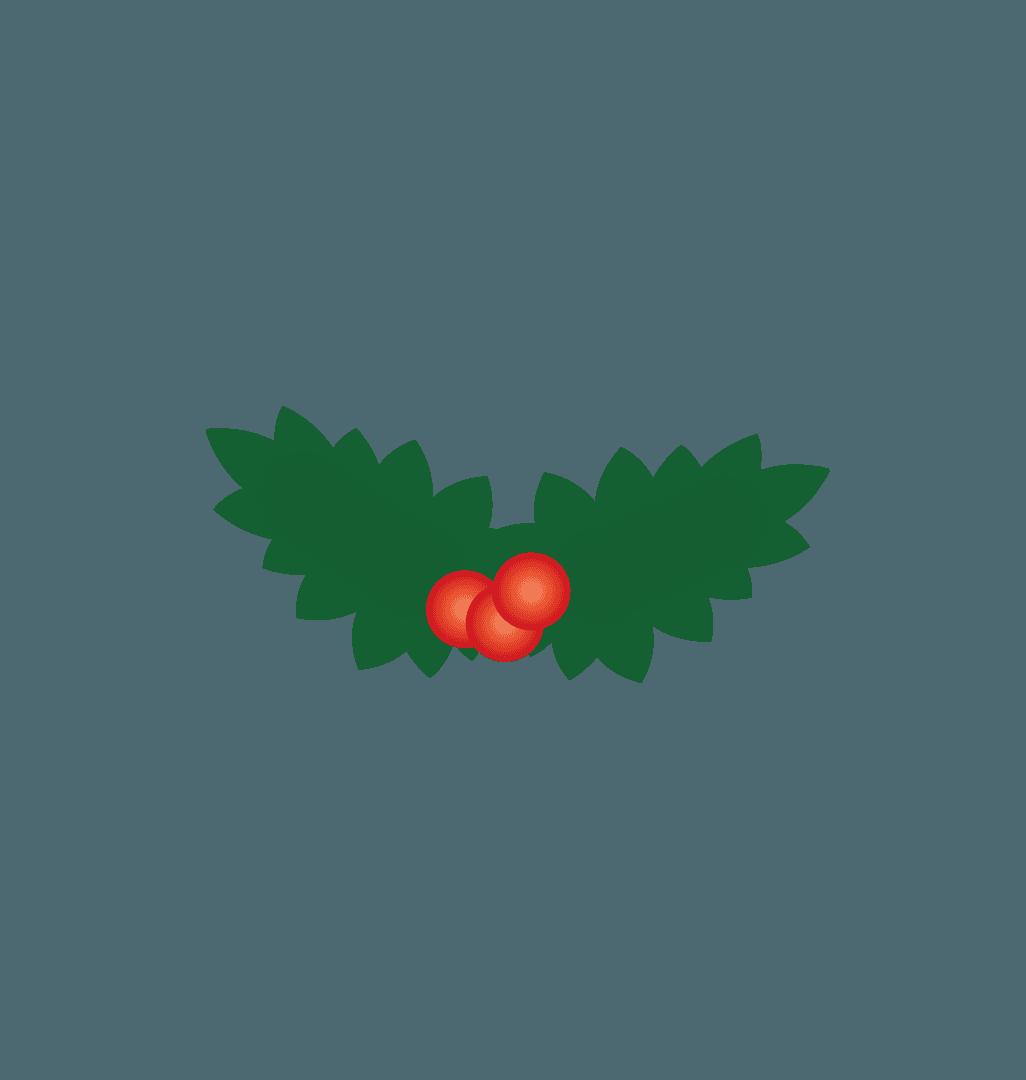 木の実と葉っぱのイラスト