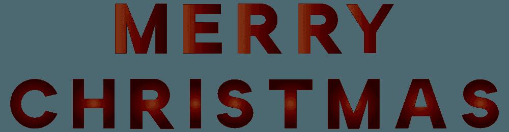 太字のメリークリスマスの文字イラスト