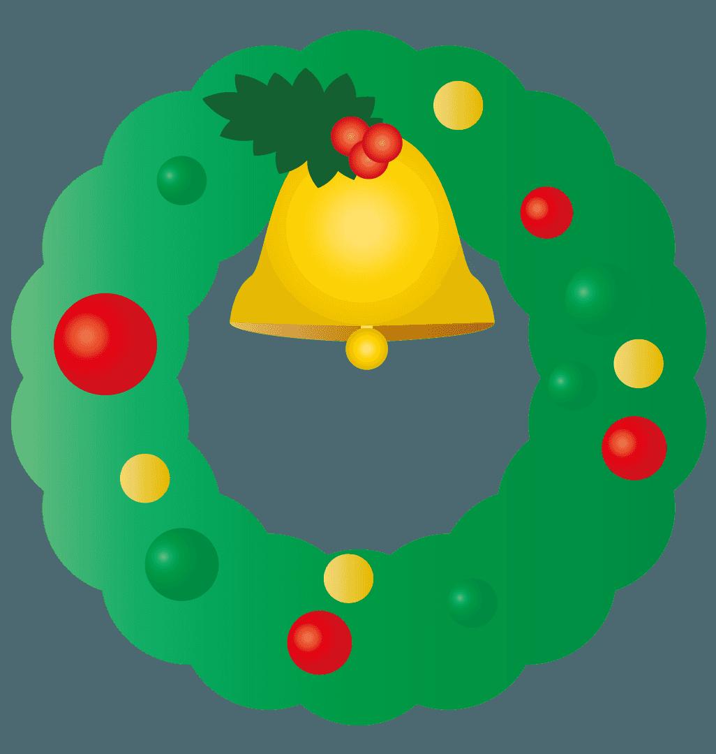 かなり単純なクリスマスリースのイラスト