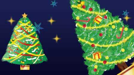 クリスマスツリーのイラスト - 可愛い無料のもみの木素材