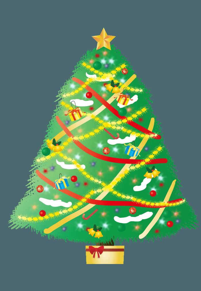 可愛いクリスマスツリーイラスト