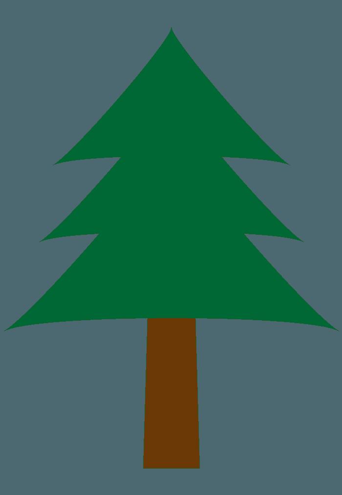 シンプルななだらかな葉のツリーイラスト