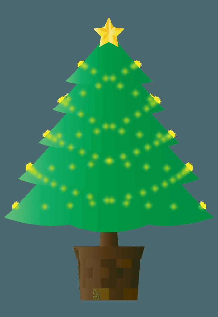 可愛いクリスマスツリー飾りなしイラスト