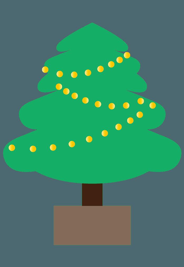 ぐにゃっとしたクリスマスツリーイラスト