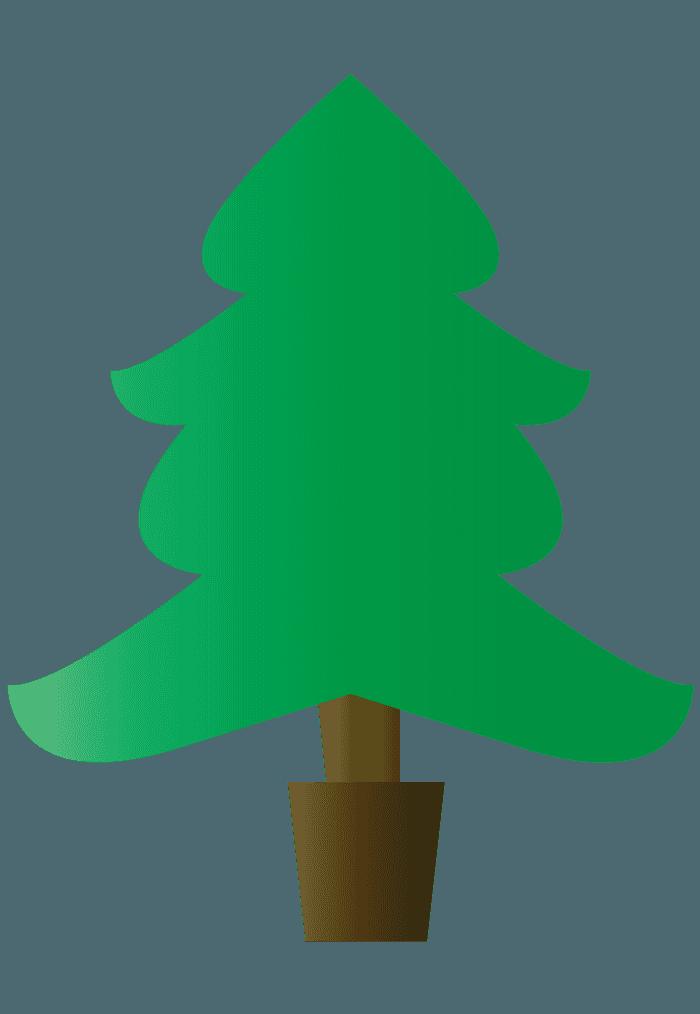 ヒゲみたいなクリスマスツリーイラスト