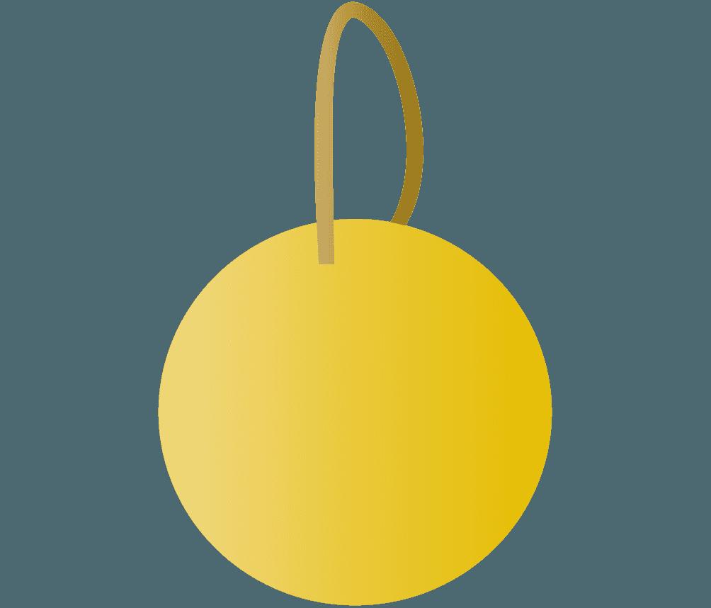 黄色デコレーションボールイラスト