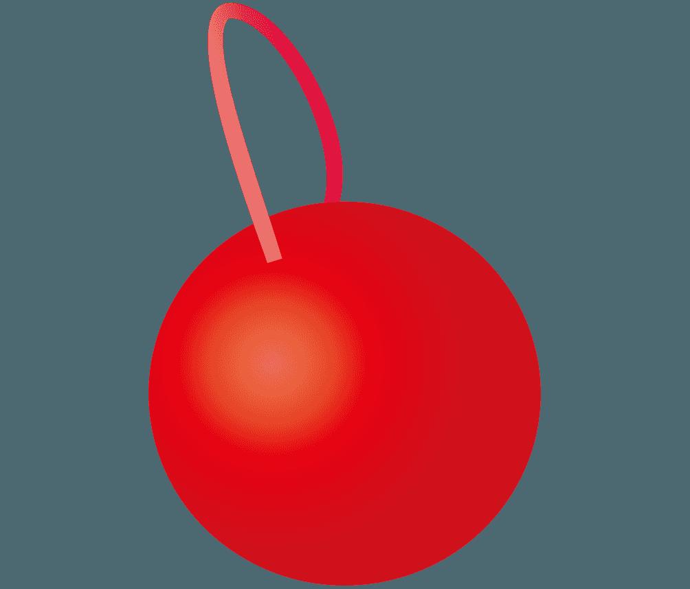 赤いデコレーションボールイラスト