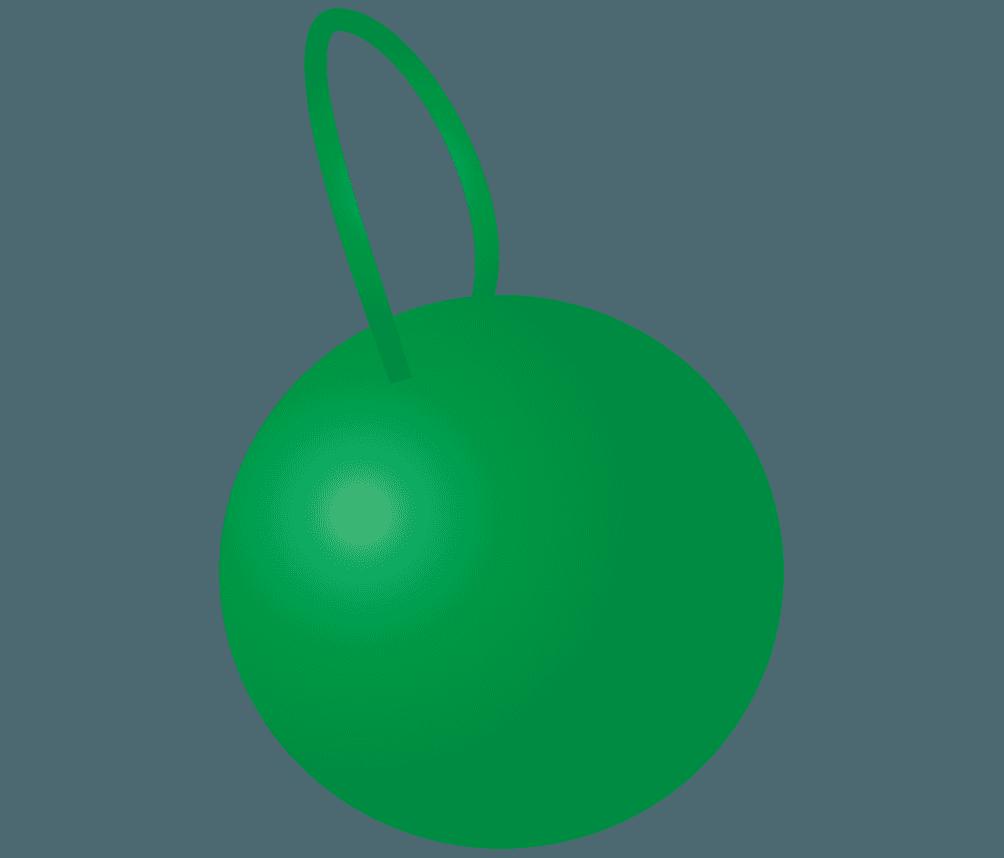 緑色のボール飾りイラスト