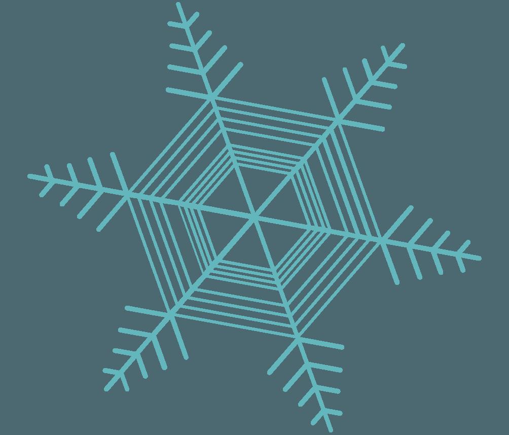 可愛い雪の結晶イラスト