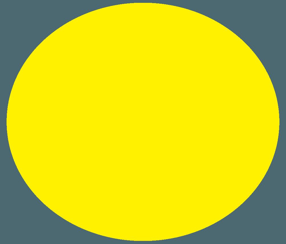 手描きの黄色いボール飾りイラスト