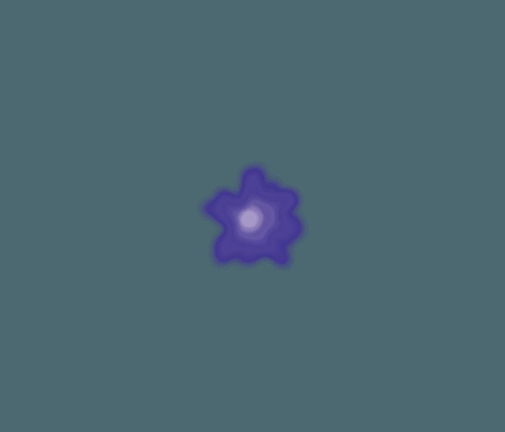 紫の電飾あかりイラスト