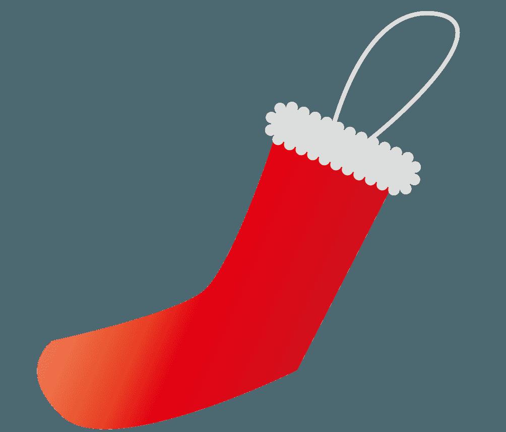 プレゼントを入れる靴下の飾りイラスト